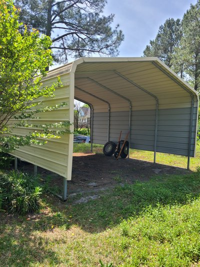 21x17 Carport self storage unit