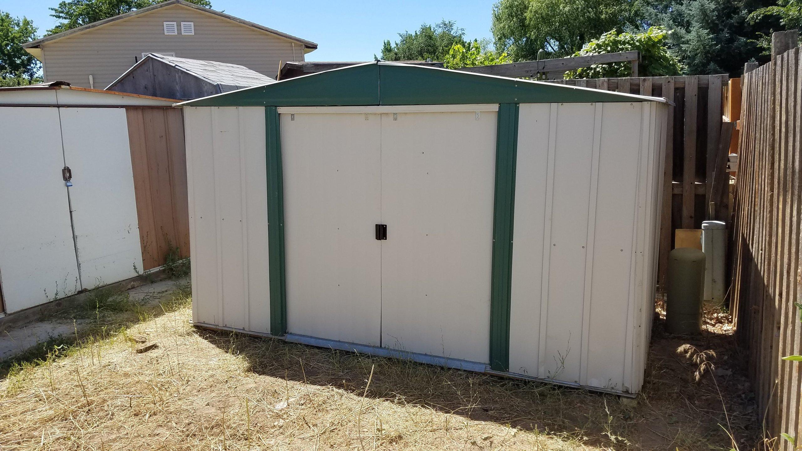 9x5 Shed self storage unit