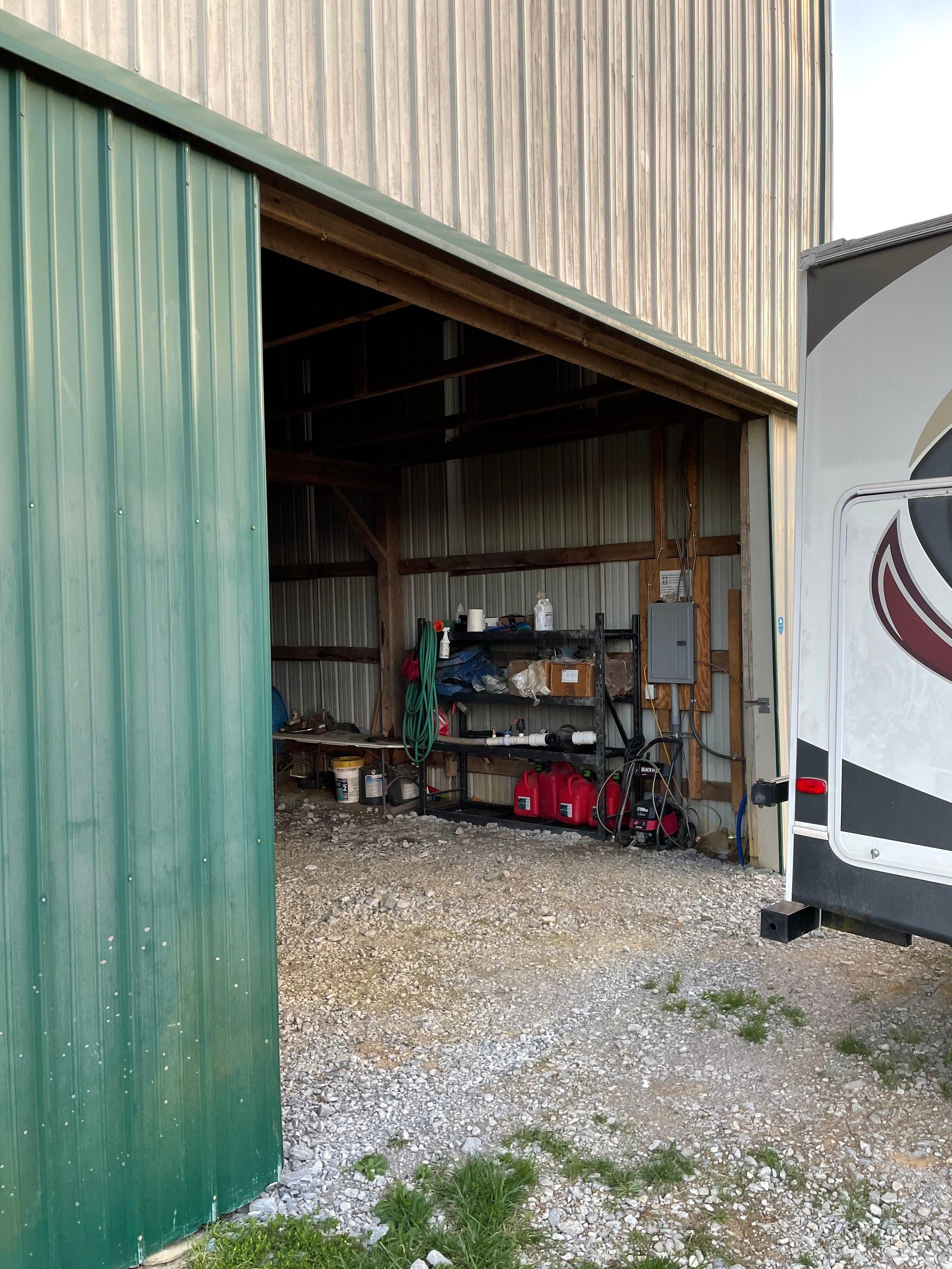50x25 Parking Lot self storage unit