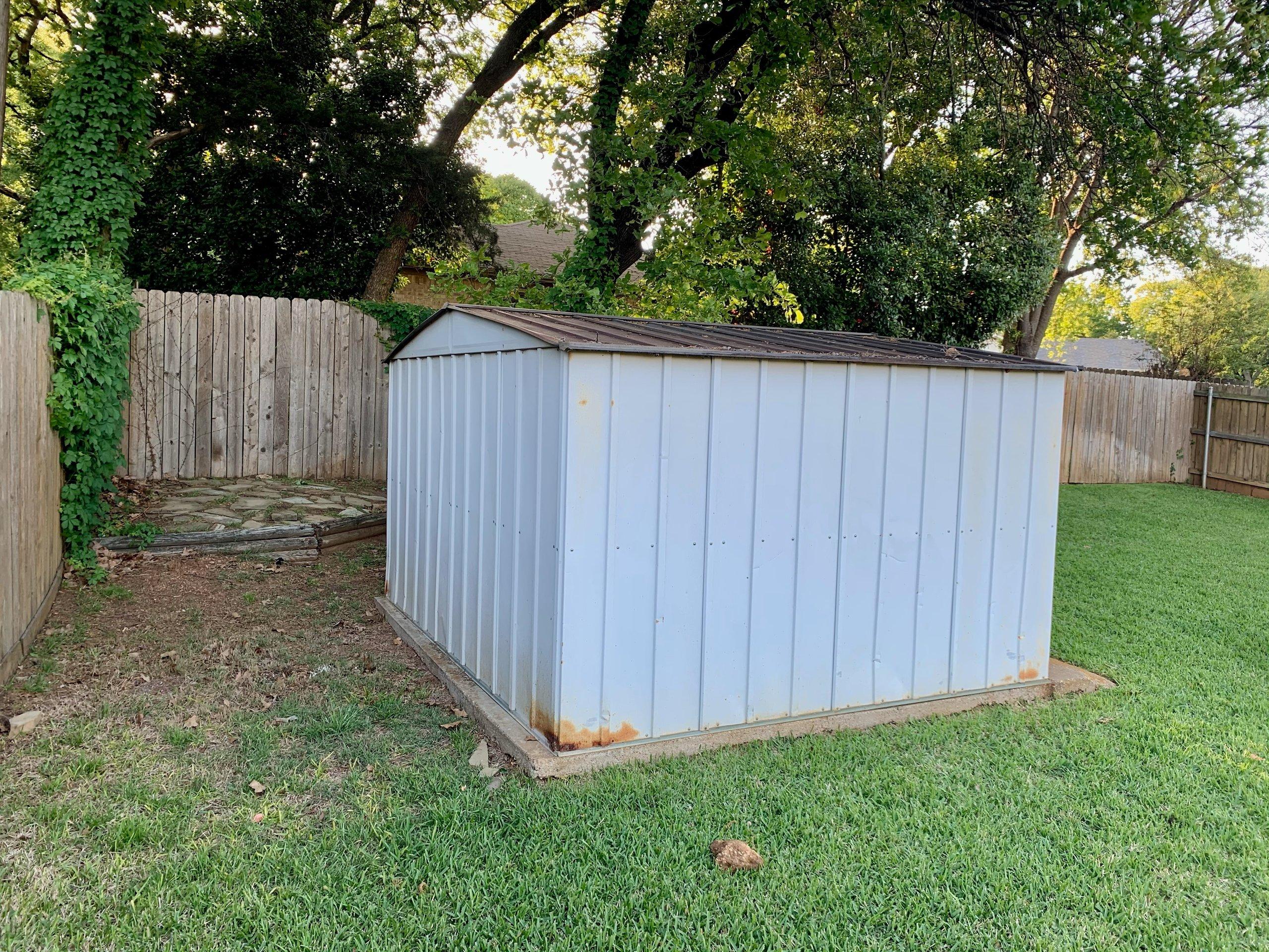 8x9 Shed self storage unit