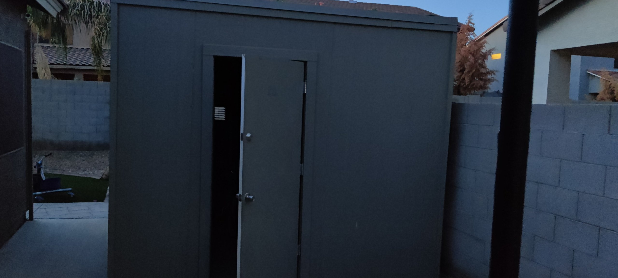 4x7 Shed self storage unit